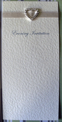 Ivory Diamante Evening Invitation
