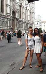 Elysa and Jessica in Florence