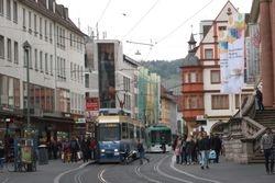 LHB trams #204 & #266 en passant on Schonbomstrasse