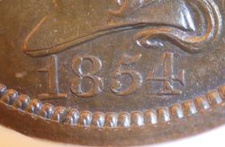 Proof Pattern Large Cent J-160:  Date 2