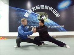 Marc with Tai Chi expert Liu Bin