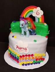 My Little Pony with flowers and rainbow