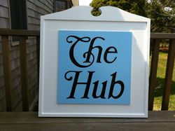 The NEW Hub sign