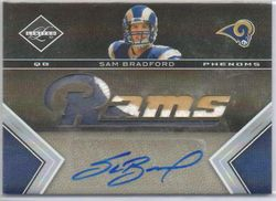 SAM BRADFORD 2010 LIMITED 3 COLOR JERSEY ROOKIE AUTO 60/199