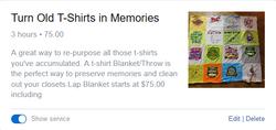 T Shirt Memory Blankets