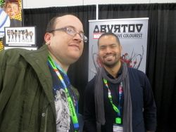 Alec Frazier and Artist Aburtov in Artist Alley