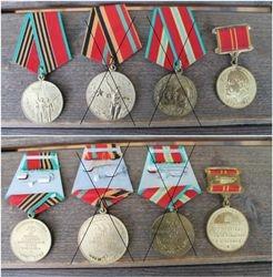 Tarybiniai medaliai. 2 vnt. Kaina po 7 Eur.