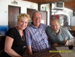 Heidi, Rolland and Ian at the seashore