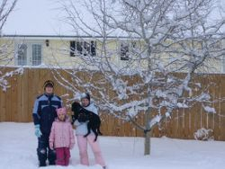 Moreau kids in the snow