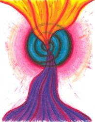 Energies Moving Through and Transforming, Oil Pastel, 11x14, Original Sold