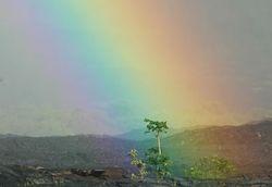 Rainbow and lava