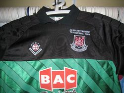 Match worn keeper shirt for Alan Devonshire's Testamonial game
