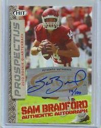 Sam Bradford Rookie Sage Hit Auto #14/100 His Jersey Number At Oklahoma