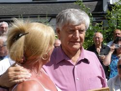 Sarah Bridges with Dave prowse MBE
