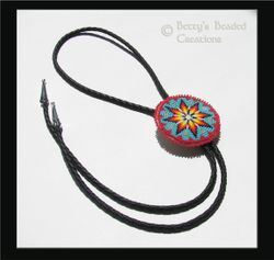 Beaded Embroidery Bolo