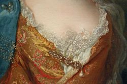 Largilliere, Portrait of the Countess de Hergh, detail, Mt. Holyoke College Museum