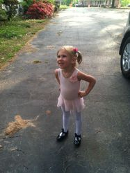 Avery getting ready for dance!