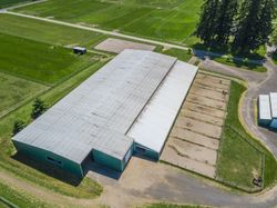 Aerial Arena barn, runs & outdoor arena