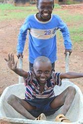 A wheelbarrow can be fun too!