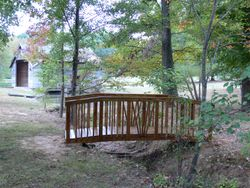 Footbridge over the creek