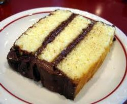 Butter Cake with chocolate frosting