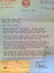 Paul Bear Bryant Letter Alabama Football Letter 1/5/1983