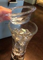 Clarity taper/tealight holder- tall