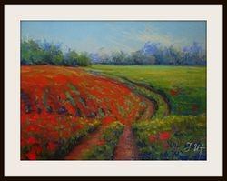 Poppy  landscape. Diptych -  part1.