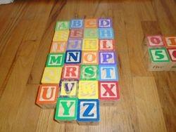 Wood Large Alphabet Blocks- Quantity of 36 - $12