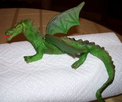 Dragon out of modeling chocolate