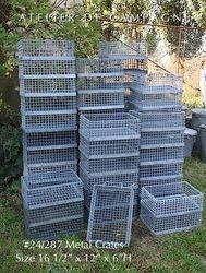 #24/287 Industrial German Metal Crates