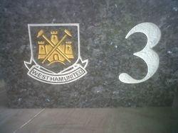 West ham fan house plaque