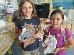 tolle Pferdebilder, Leonie und Charlotte