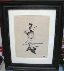 Ted Williams Autographed Authenticated By PSA