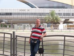 Outside the Dubai mall