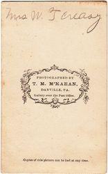 Mrs. W. T. Creasy of Danbury, Pennsylvania