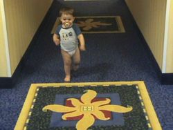 Jack running the halls of the Jacksonville Hampton Inn