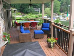 Two Story Full Length Trex Deck & Railing 6