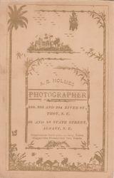 A. S. Holmes, photographer, of Troy & Albany, NY - back