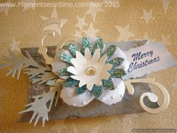 Frayed Pillow Box Blue and Silver
