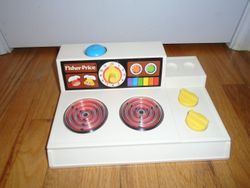 Vintage 1978 FISHER-PRICE Magic Glow STOVE TOP #919 Play Kitchen - $15