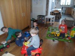 Samen spelen met de auto's