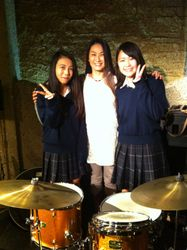High school big band drummers in Mito!!