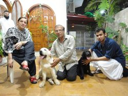 fam mahdi with carly & tyson