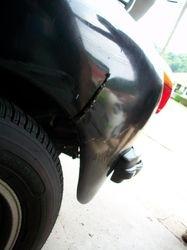 Fiberglass fender repair