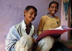53 Tulsi and Gabbar at the Mathura drop-in centre.  Tulsi wants to train as a teacher