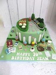 Gardening and Hobby Birthday Cake
