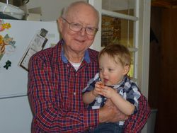 Sonny Bishop and his great-grandson, Caleb