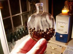 Pumpkinseed flask with cherry seeds ..