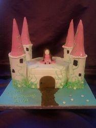 Princess castle cake Gluten Free